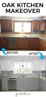 Our Oak Kitchen Makeover My Future Home Oak Kitchen Cabinets