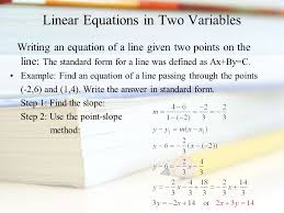 64 linear equations in two variables