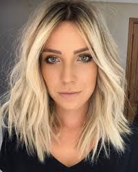 Stylish Blonde Lobs Haircut Ideas 2 Frisur Frisuren Balayage