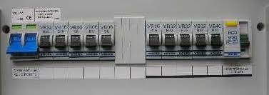 circuit breaker in most homes today you will not a fuse box when you have a modern wiring system iinstalled you will have a circuit breaker box installed