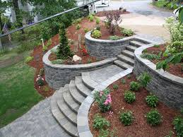 Small Picture landscape terrace ideas NH landscape design for retaining wall