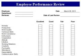 Employee Performance Review Form Employee Performance Review Template