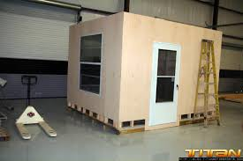 how to build an office. Our Shipping Manager Kris Has His Own Fabricated Office In The Back Of Warehouse To Make Deliveries Much More Convenient. Can Easily Be Moved How Build An