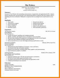 Event Planner Sample Resume Download Event Planner Sample Resume DiplomaticRegatta 22