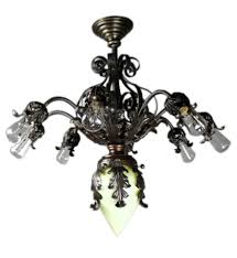 queen anne fancy wrought iron chandelier