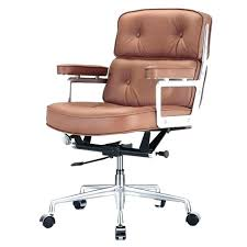 brown desk chair leather office chairs furniture leather office chairs awesome contemporary leather high office chair