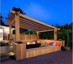 Backyard Deck Design Simple Deck With Pergola Ideas Pergola Gazebos Arbor Carport Kaliman