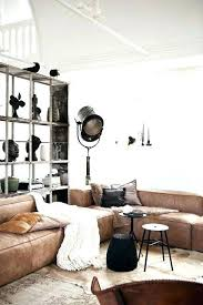 industrial inspired furniture. Industrial Inspired Furniture Leather A Large Corner Brown Sofa For An Space Stores