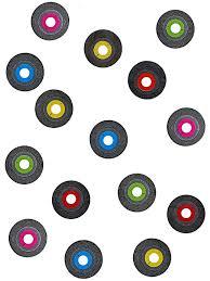 150 Confettis de table disque vinyl, décoration anniversaire et ...
