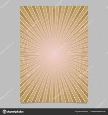 Retro Abstract Star Burst Flyer Background Template Vector