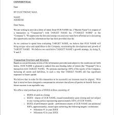 Letter Of Intent Template Free Loi Template From Cfi