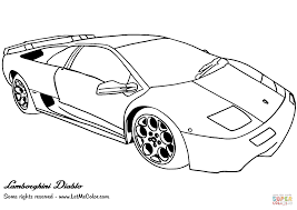 Small Picture Lamborghini Diablo coloring page Free Printable Coloring Pages