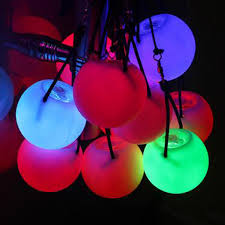 Glow Pro Lighting 5pcs Pro Led Multi Coloured Glow Poi Thrown Balls Light Up For Belly Dance Hand Props