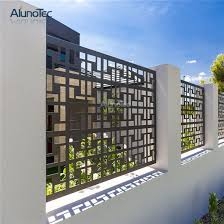 china aluminum garden fence and laser