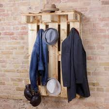 Coat Rack Hanging DIY Euro Pallet Coat Rack Hanging Wardrobe 100 Pallets 66