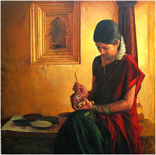amazing oil painting by south indian legend ilaiyaraaja 3