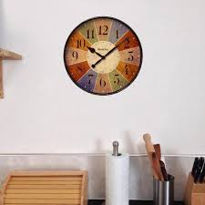 multicolor novelty wall clock