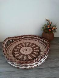 round wicker tray round wicker tray rustic kitchen tray breakfast coffee table bread tray serving wicker
