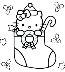 Christmas Cat Coloring Pages Cat Coloring Pages On Cat To Color Pic