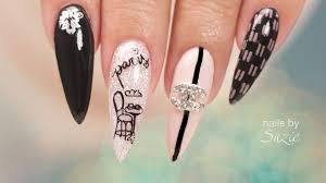 Chanel Nail Design Chanel Inspired Nail Art