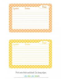 Recipe Cards Print Free Printable Fall Recipe Cards Todays Creative Life