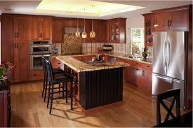 cherry kitchen cabinets black granite. Cherry Wood Kitchen Cabinets With Black Granite Brown Varnished Cabinet Beige Marble Countertop Primitive Decorating Ideas Ceiling A