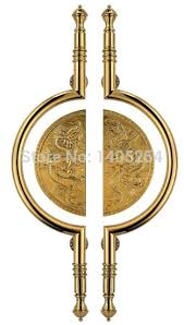 brass door pulls. luxury brass door pull handle 1meter length for home or villa and hotel use with good pulls