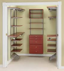 wood wall mounted closet organizer system with 5 drawers idea