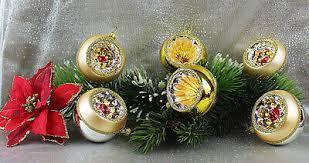 6 Schöne Reflexkugeln Mattgold Gold 6cm Christbaumschmuck