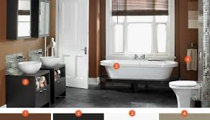 cabinet bathroom grey beige tiles modern combinations williams blue sc half paint color sherwin trends small