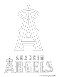 Small Picture Anaheim Angels Logo Mlb Baseball Sport Coloring Pages Printable