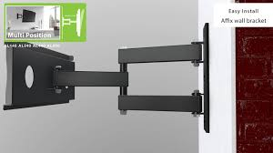al650 multi position tv wall mount bracket up to 80 inch screen