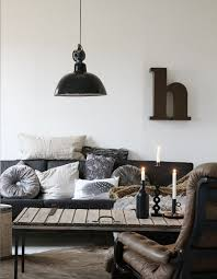 Stylish designs living room Comfortable Leather Furniture Wooden Table On Metal Legs And Retro Lamp To Create Digsdigs 53 Stylish And Inspiring Industrial Living Room Designs Digsdigs