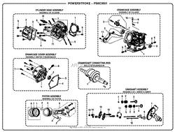 homelite ps9c3501 powerstroke 3 500 watt generator parts diagram general assembly b