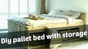 king size pallet bed pallet bed frame instructions pallet bed frame with storage