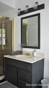 Bathroom Lighting Bars Serendipity Refined Blog How To Update Oak And Brass Bathroom