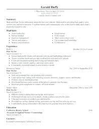 Cosmetology Resume Simple Cosmetologist Description Cosmetology Resume Objective Cosmetology