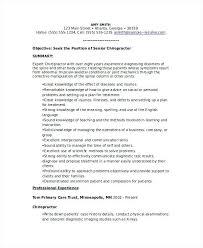 Chiropractic Resume Stunning Chiropractic Assistant Resume Sample Chiropractic Resume Template