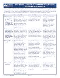 Edd Benefits Chart Fillable Online Edd Ca How To Certify For Ongoing