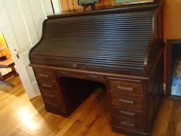 back to antique roll top desk for living room