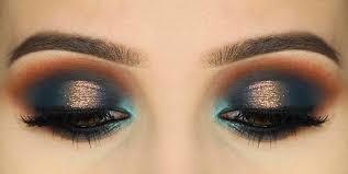 teal green eyeshadow golden eyeshadow aqua blue