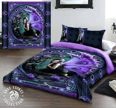 goth bedding sets stokes naiad fairy duvet set us queen size black gothic comforter set
