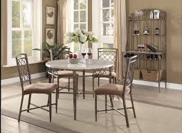 adalgar 5 pc 45 faux marble grey round dining table set and chairs w