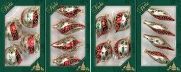 Krebs Glas Lauscha Christbaumschmuck Kugel Tropfen Olive Zwiebel 16 Tlg Mundgeblasen Dekoratives Formenset Mit Ilex Dekor Online Kaufen