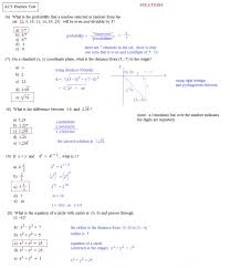 Act Math Prep Worksheets With Answers Free Printable Practice ...