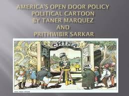 explanation the political cartoon portrays america a k a uncle sam opening the door