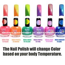 Amazon.com : 6 FULL MIA SECRET MOOD COLOR CHANGING NAIL POLISH LACQUER MD -  MADE IN USA + FREE EARRING by Mia Secret : Beauty