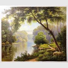china paintings of landscapes scenery fresh forest modern abstract wall art oil painting supplier