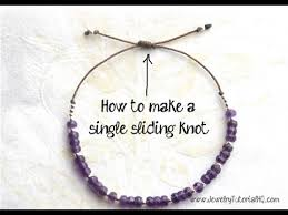 Making A Slide How To Make A Sliding Knot Single Knot Jewelry Making Tutorial