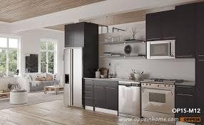 modern grey matte melamine kitchen cabinet op15 m12